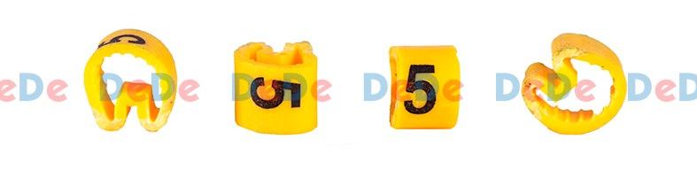 حروف و شماره سیم حلقوی گرد