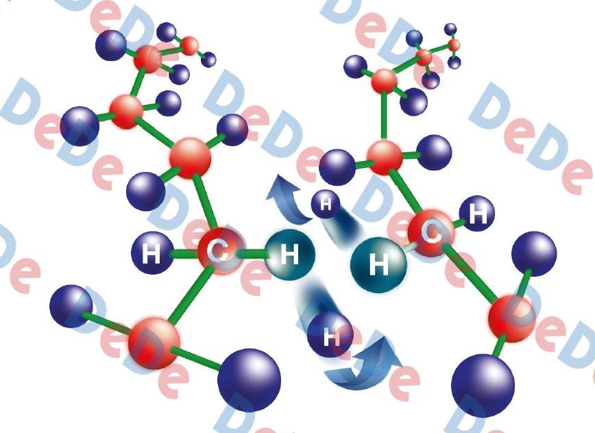 ساختار مولکولی روکش حرارتی در حین کراس لینک