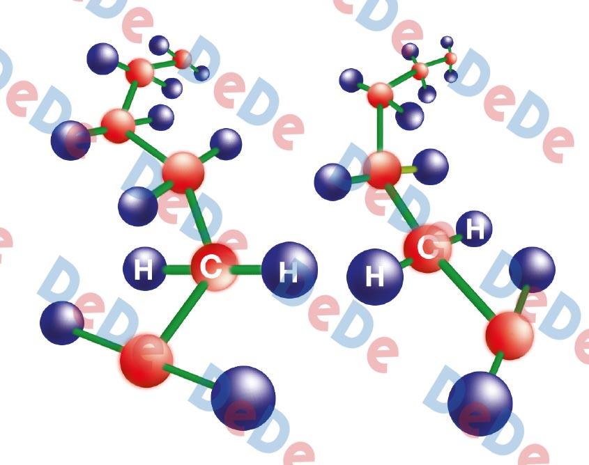 ساختار مولکولی روکش حرارتی قبل از کراس لینک