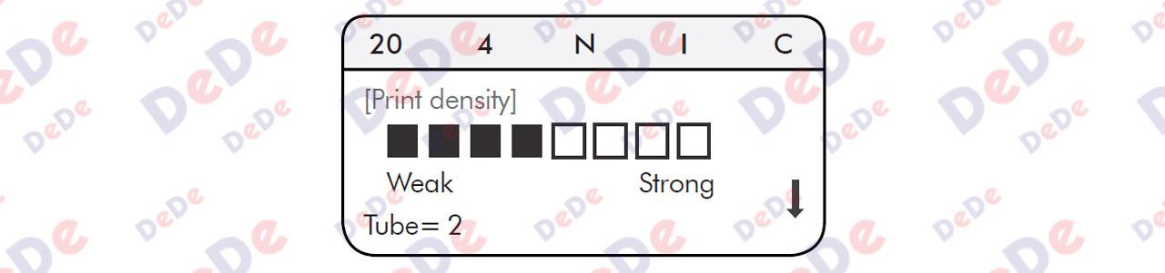 گزینه Print Density